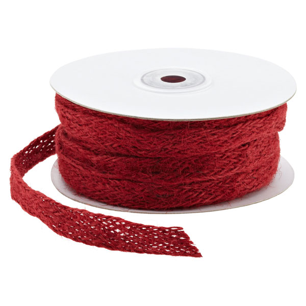 Ribbon Jute Weave Red