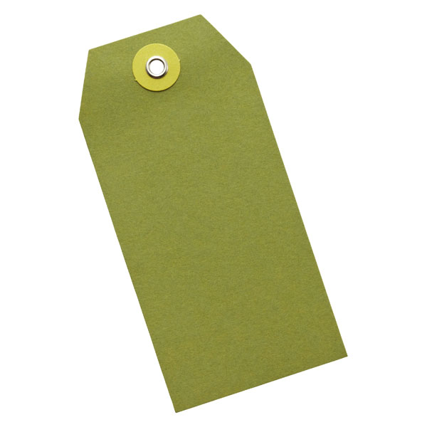 Gift Tags Moss/Chartreuse Pkg/5