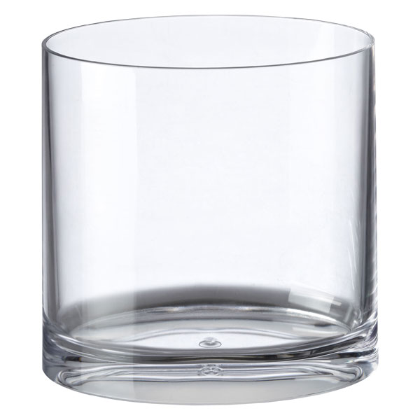 clear acrylic oval trash can | the container store