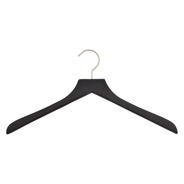 Basic Soft Matte Shirt Hanger Black Pkg/3