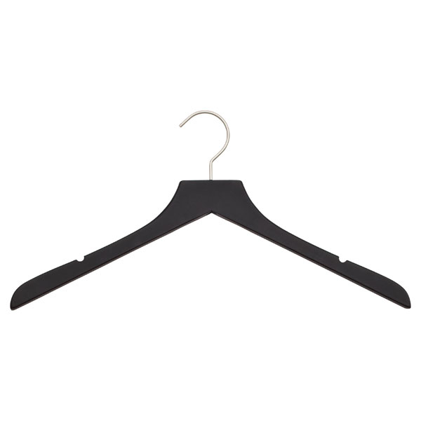 Basic Soft Matte Blouse Hanger Black Pkg/3