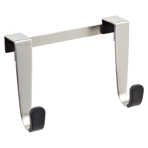 Schnook Double Cabinet Hook Silver/Black