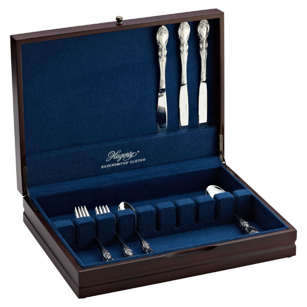Wooden flatware storage chests made in usa afreakatheart for Cutlery storage with lid