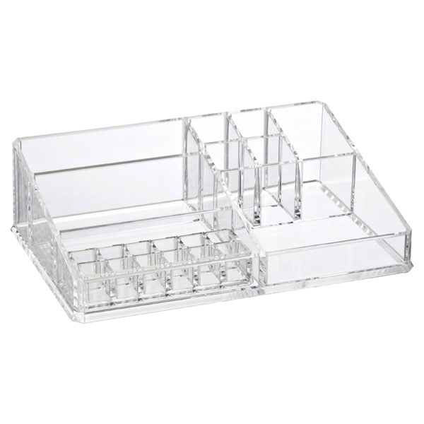Luxe Acrylic Makeup Storage Kit The Container Store - Acrylic makeup organizer
