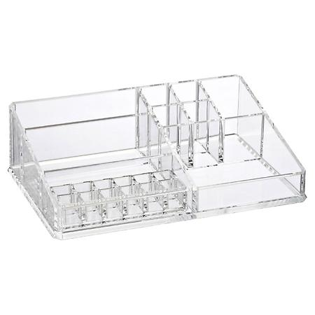 Large Luxe Acrylic Makeup Organizer Clear