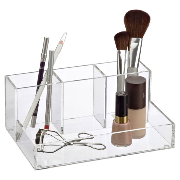 Section Acrylic Makeup Organizer The Container Store - Acrylic makeup organizer