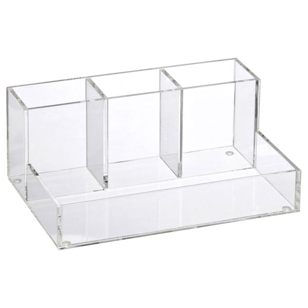 4-Section Acrylic Cosmetic Organizer Clear
