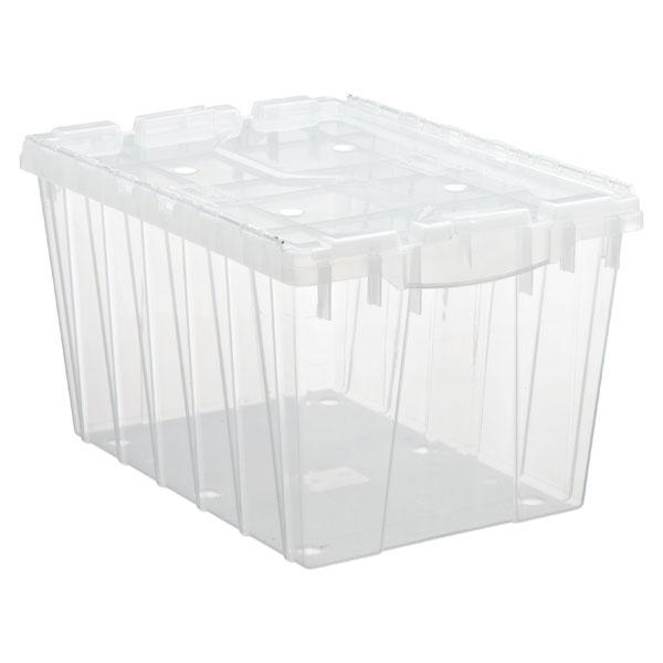 12 gal. Hinged-Lid Tote Translucent
