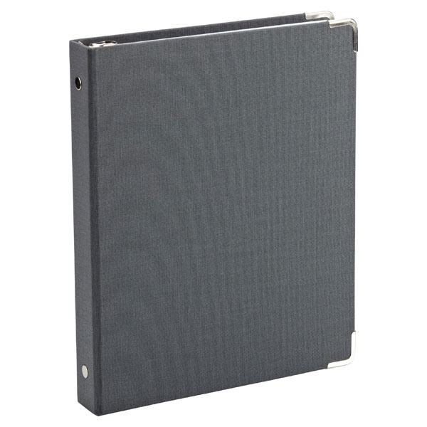 Mini Three-Ring Binder Charcoal