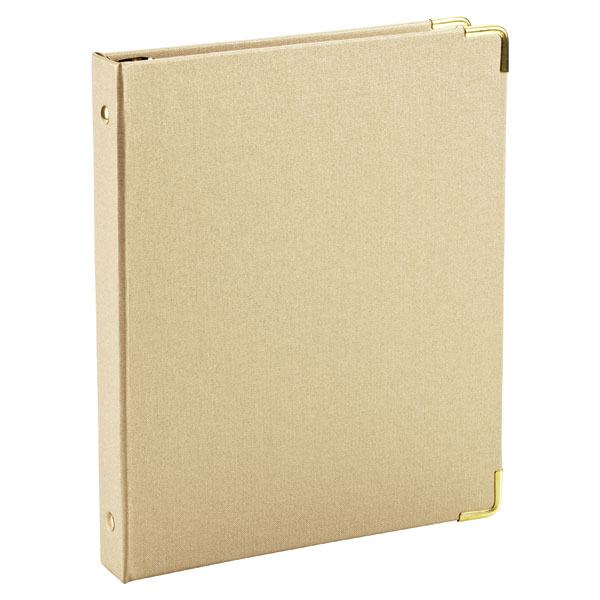 Mini Three-Ring Binder Gold