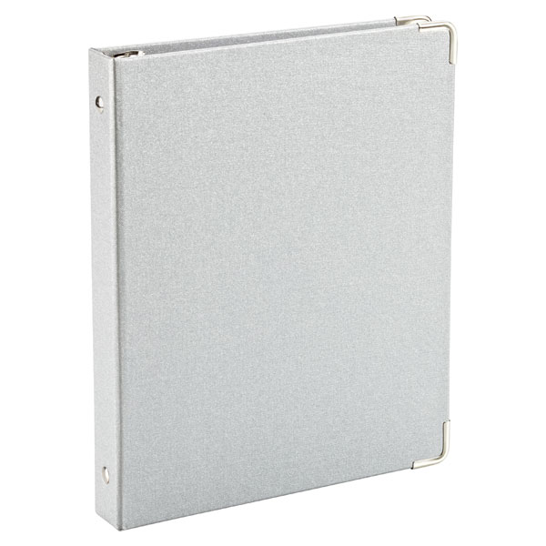Mini Three-Ring Binder Silver
