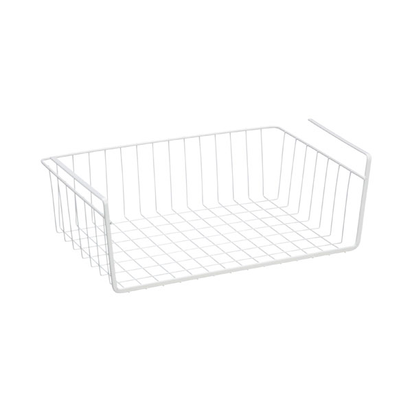 Medium Undershelf Basket White