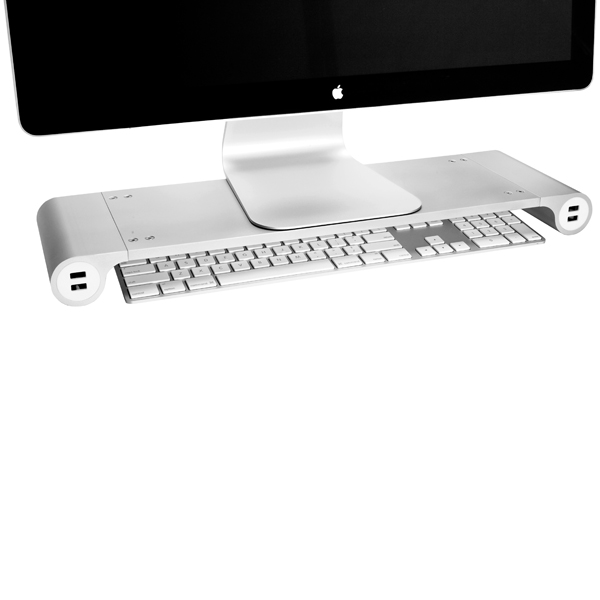 Space Bar Monitor Stand Silver