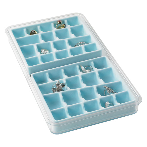 36-Section & 7-Ring Stacking Tray Light Blue