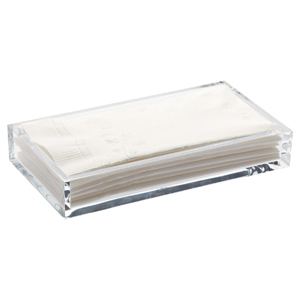 Acrylic Guest Towel Tray The Container Store - Paper hand towels for bathroom