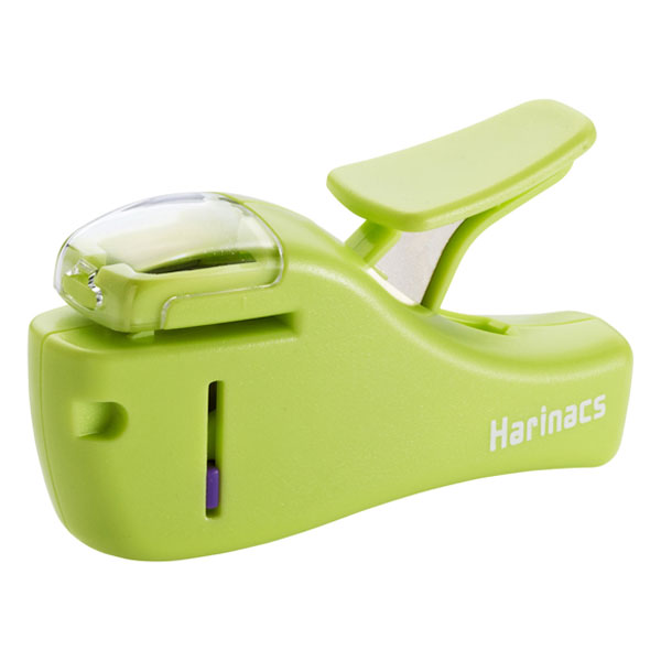 Small Staple-Free Stapler Green