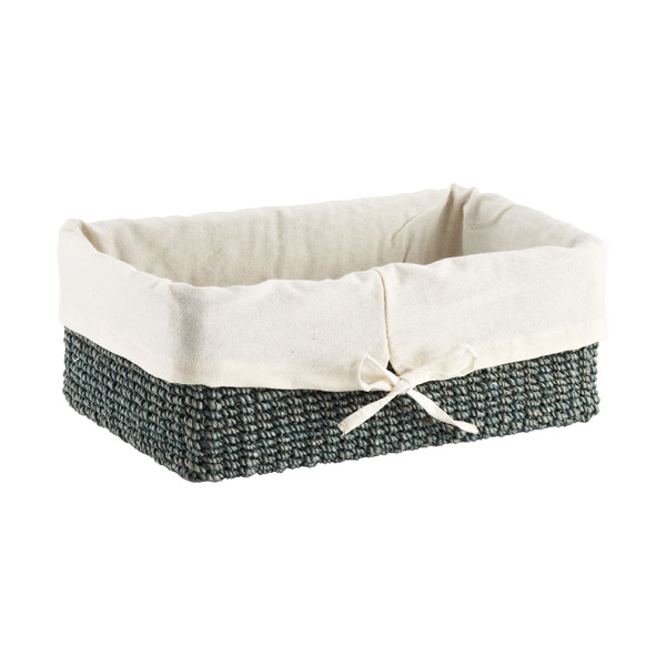 Small Makati Lined Basket Aqua