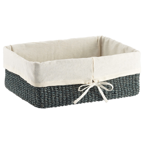 Large Makati Lined Basket Aqua