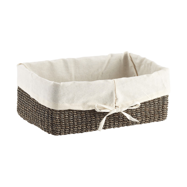 Small Makati Lined Basket Charcoal