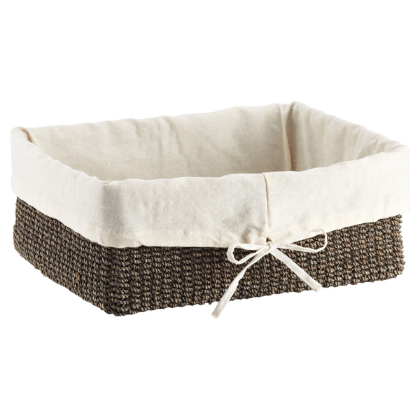 Large Makati Lined Basket Charcoal