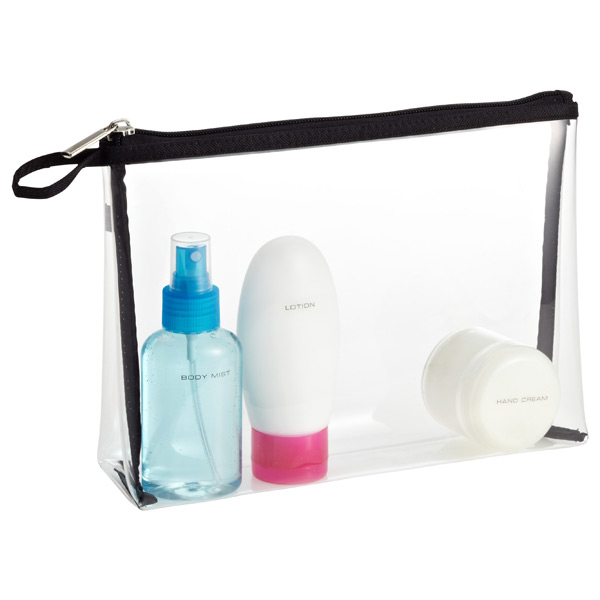 Clear Quart Sized Zippered Pouch