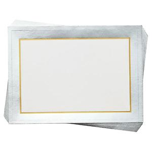 Foil Bordered Labels Silver Pkg/12