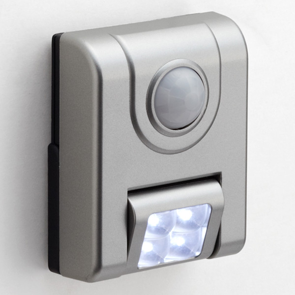 4 LED Motion Sensor Light Silver