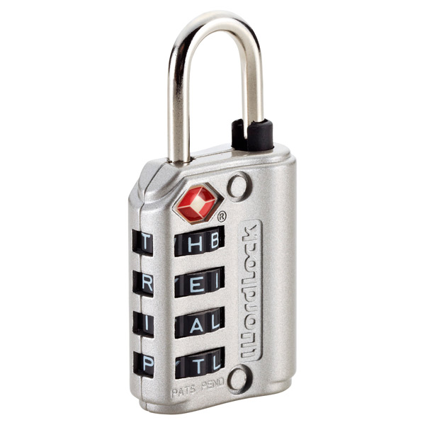 TSA Wordlock Travel Lock Silver