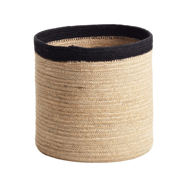 Small Round Jute Bin Natural