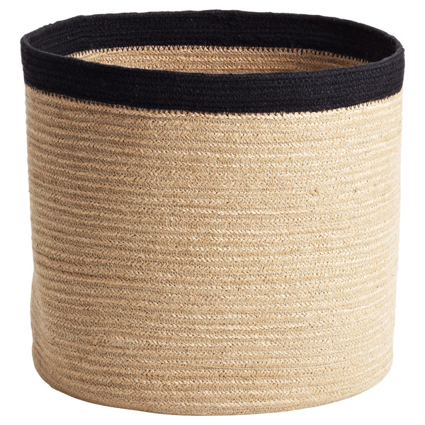 Large Round Jute Bin Natural