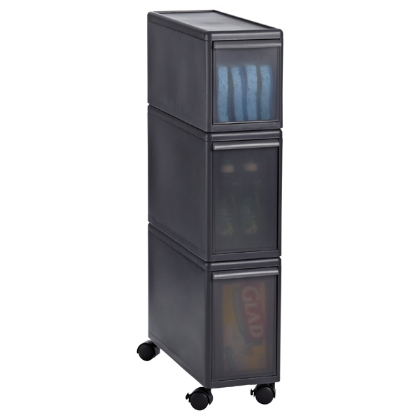 Like-it Slim Tower w/ Casters Smoke