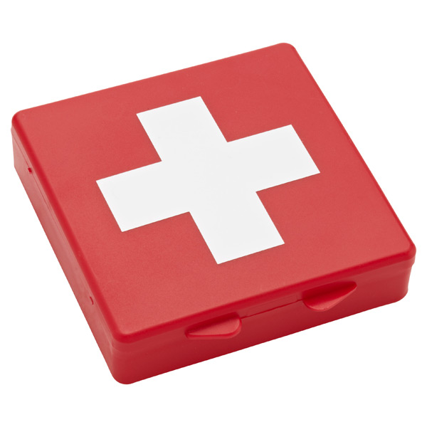 Travel First Aid Box Red & White