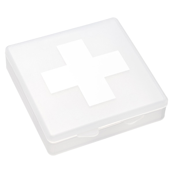 Travel First Aid Box Translucent & White