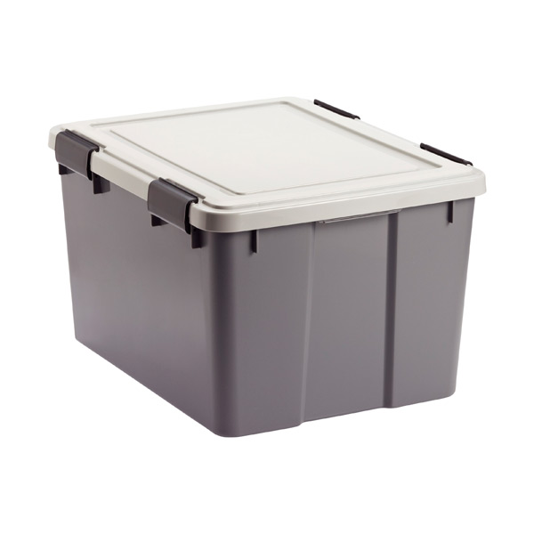46.6 qt Watertight Tote Grey