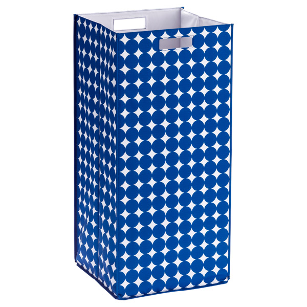 Rhombus Hamper Blue Dots