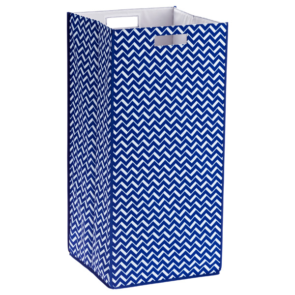 Rhombus Hamper Blue Chevron