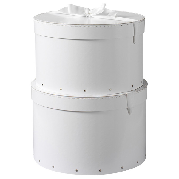 Bigso™ Hat Boxes White Set of 2