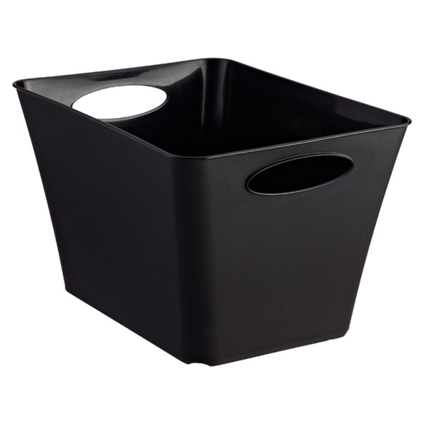 Large Taper Bin Black