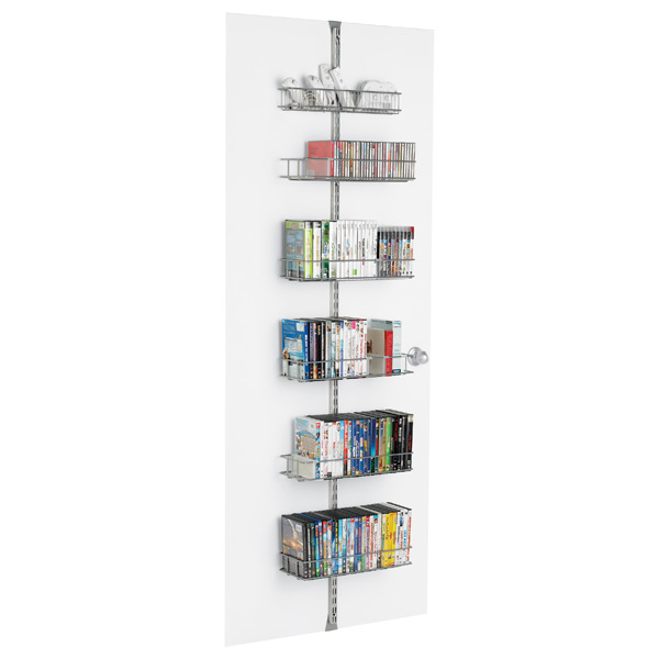 elfa Media Door & Wall Rack Platinum