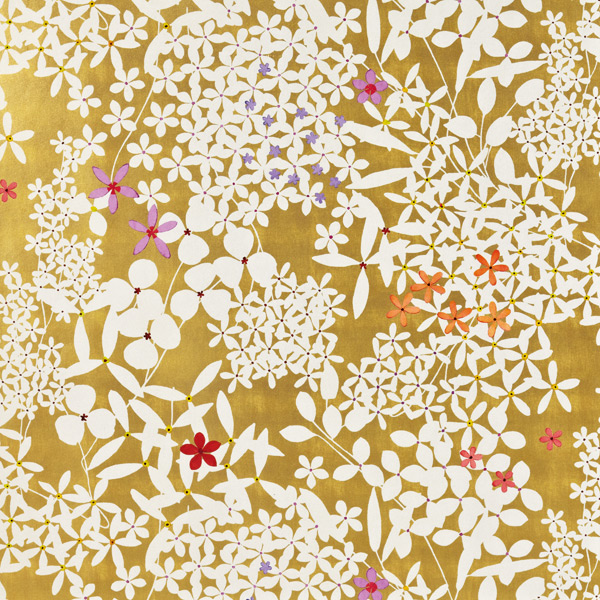 Wrap Floral Lace Gold Pkg/2