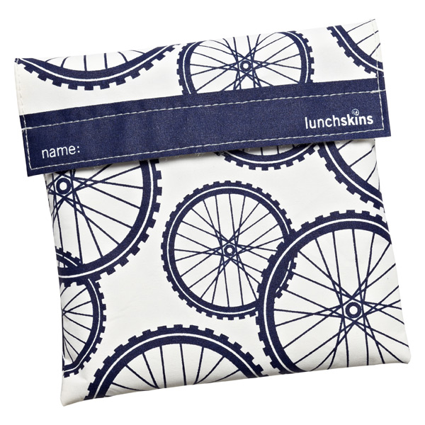 lunchskins® Sandwich Bag Navy Bikes