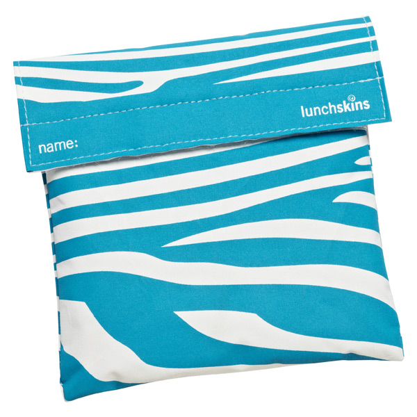 lunchskins® Sandwich Bag Aqua Zebra