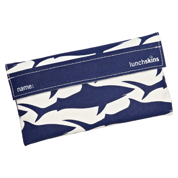 lunchskins® Snack Bag Navy Shark