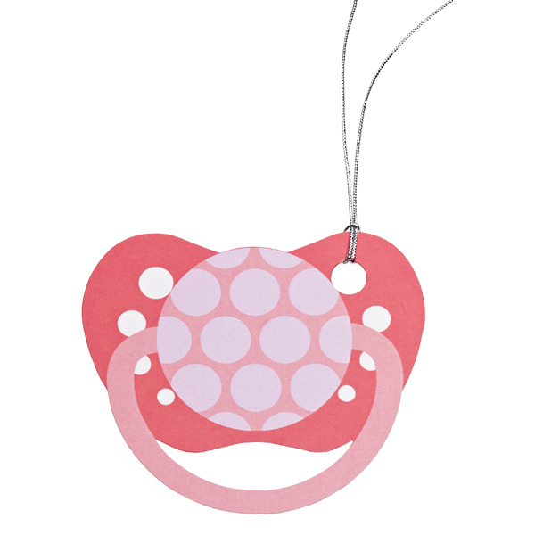 Pacify Me Gift Tags Pink Pkg/5