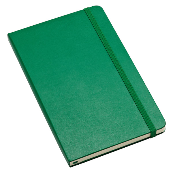 Large Moleskine® Ruled Notebook Green