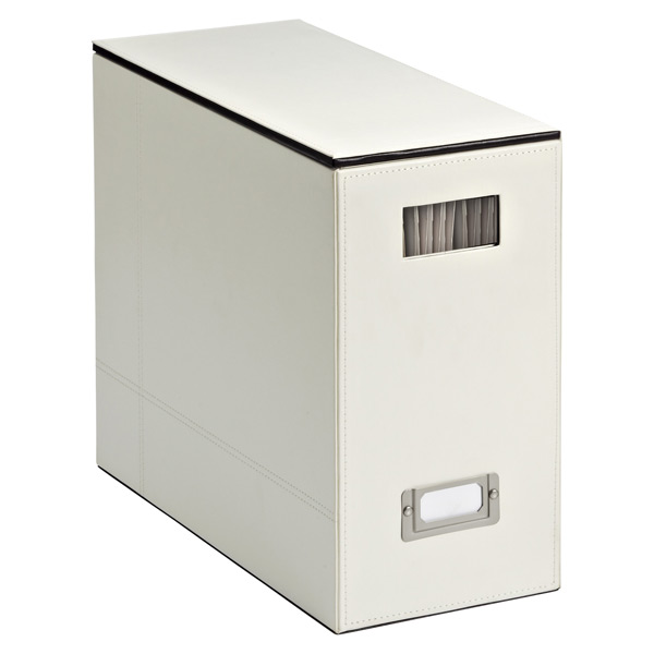 Mercer Desktop File Ivory/Black