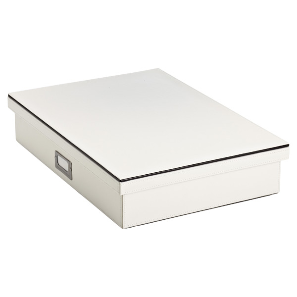 Mercer Document Box Ivory/Black