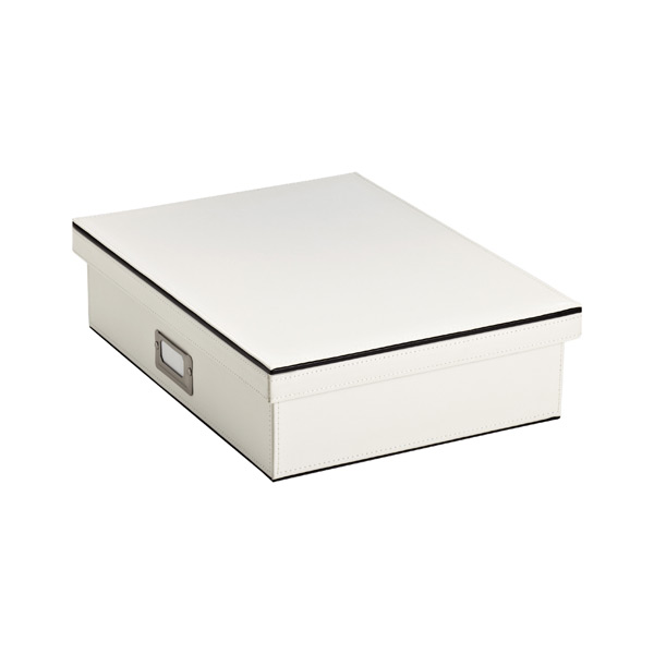 Mercer Letter Box Ivory/ Black
