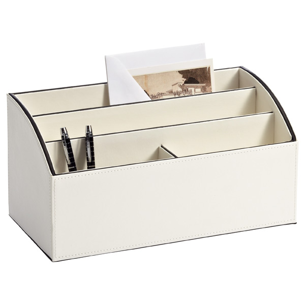 Mercer Large Mail Sorter Ivory/Black