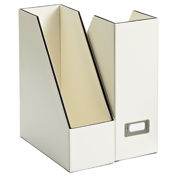 Mercer Magazine File Ivory/Black